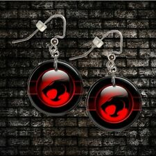 "**THUNDERCATS** 1"" Button Dangle Earrings **FREE PIN** ~~USA Seller"