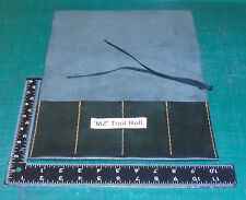 100% Handmade Black Leather Copy of a MZ301 Tool Roll. Made in Ireland.