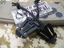 MOLLE Bungee Gear Ties Tactical Gear Straps 2pc Stretch Cord Hiking Survival Blk