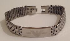 gourmette bracelet stainless steel argent plaque inscription filigrane 5059