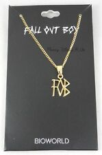 New Fall Out Boy FOB Band Logo Pendant Necklace Gold Tone Chain