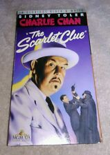 Charlie Chan - The Scarlet Clue VHS 1945 Sidney Toler Monogram MGM Play Tested
