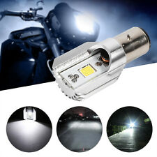 DC 12-24V BA20D COB White LED Motorcycle Headlight High/Low Beam Light Bulb Lamp