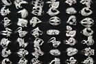 Wholesale mixed lots 50pcs Crystal Rhinestone Fashion Silver P rings Jewelry