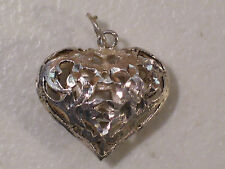 STERLING SILVER CUT SCROLL HEART PENDANT