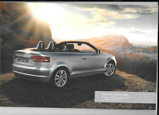 AUDI A3 CABRIOLET ILLUSTRATED PRICES & SPECIFICATION SALES BROCHURE OCTOBER 2012