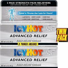 *TWIN PACK* Icy Hot ADVANCED Pain Relief Cream Muscle/Arthritis MAXIMUM STRENGTH