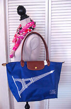 LONGCHAMP EIFFEL TOWER PLIAGE TOTE BAG PURSE ROYAL BLUE 2016 LIM EDITION FRANCE