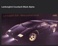 Lamborghini Countach -Black Alpine Original Extremely Rare! Car Poster! WOW!!!!