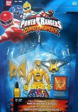 Power Rangers Dino Thunder Yellow Dino Action Ranger New 5.5in Factory Sealed