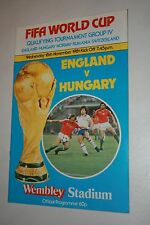 WORLD CUP QUALIFYING 1981 ENGLAND V HUNGARY PROGRAMME