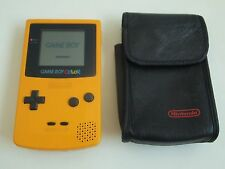 Nintendo Gameboy Colour Color Console Yellow Leather Case