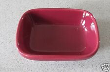 WORKSHOPS OF GERALD E. HENN POTTERY GARNET CRANBERRY JEWELWARE RELISH TREAT DISH