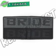 JDM Bride Racing Fabric Bifold Wallet Leather Gradate Men Bonus Keystrap