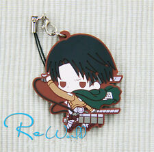 Attack On Titan Character Levi Ackerman Rubber Key Chain & Holder & Phone Strap