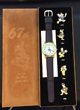 JDS Japan Disney Store 67th Ann Donald Duck Wrist Watch & 5 Pin Boxed Set LE
