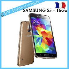 """SAMSUNG GALAXY S5 G900F 16Go OR """"DÉBLOQUÉ TOUT OPÉRATEUR"""" Garantie 6 mois"""