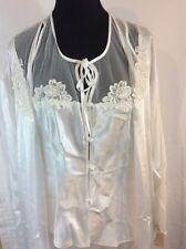 Cinema Etoile Bridal Peignoir Lingerie Robe Pants NWT Tom Bezduda Wedding White
