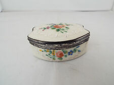 ANTIQUE  ENAMEL TABLE SNUFF BOX BILSTON/STAFFORDSHIRE 19thc
