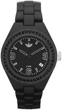 NEW ADIDAS BLACK ACRYLIC STRAP+BLACK CRYSTALS BEZEL MINI CAMBRIDGE WATCH-ADH2590