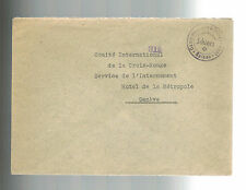 Schlers Switzerland Military Internment Camp Cover to Red Cross WW 2