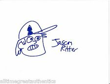 JASON RITTER HAND SIGNED DRAWN GRAVITY FALLS SKETCH W/COA PROOF DIPPER PINES