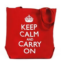 Back To School Book Bags Large Keep Calm and Carry On Tote Bag Red