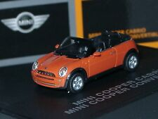 Herpa New Mini Cooper Cabrio, HOT-ORANGE - dealer model 094 - 1/87
