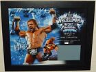 WWE Triple H Wrestlemania 25 Auto Autograph Plaque With Ring Mat #ed 107 of 500