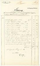 Delikatessen-Rechnung für Prinz Adalbert von Bayern von 1853