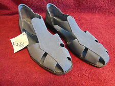 Women's Sandals-Comfort Plus-Size 8 1/2 W-Blue-Leather Sock-PreOwned-Excellent