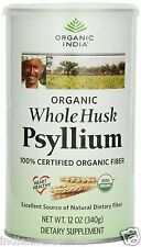 Organic India Whole Husk Psyllium 100 gm Cannister Organic Dietary Fiber USDA