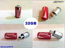 PEN DRIVE PENDRIVE DE UNA LATA DE COCA COLA 32GB 32 GB MEMORIA USB(4 8 16 64)