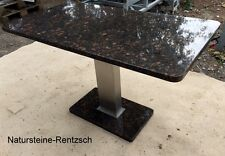 Gartentisch Wohnzimmertisch Küchentisch Naturstein braun wetterfest Steinplatte