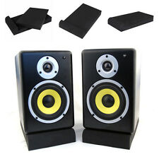 Unique Set of 2 Sound Absorber Speaker Acoustic Foam Mat UC913 Black Absorption