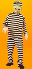 CONVICT ZOMBIE BOYS COSTUME Small 4-6X Scary Prisoner Mask Child Monster Fun NEW
