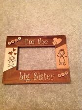 PERSONALIZED WOOD LASER ENGRAVED Picture Photo Frame - I'm The Big Sister