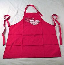 Lovely Hearts Kitchen Apron - Red - Valentine's Day - NEW