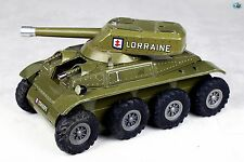 """Awesome 1960 Vintage French Joustra """"Lorraine"""" Army Tank Wind-up Toy"""