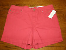 NWT Rococo Red Denim Shorts, sz 16, $34, SONOMA, Brass Studs! VERY CUTE!