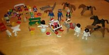 Playmobil Mixed Lot Vtg 70s 90's &More Recent Figures Animals Accessories