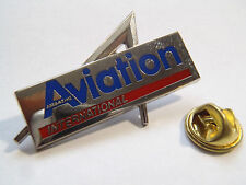 PIN'S MAGAZINE AVIATION INTERNATIONAL AMC