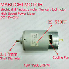 DC 12V-24V 18V High Speed Power Large Torque Mabuchi RS-550PF DC electric Motor