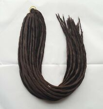Elysee Star - #4 Dark Brown Synthetic Dreadlocks (Double Ended) Pack of 12