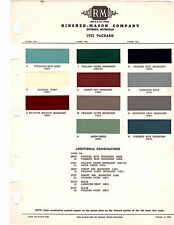 1952 PACKARD CLIPPER PATRICIAN 200 250 300 400 52 PAINT CHIPS RINSHED MASON 2