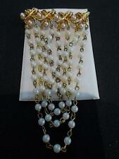 Vintage Metal 1960s ADORA Pin Brooch Simulated Pearl Drop Costume Jewellery 60s
