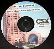 CSX Railroad 2000 Buffalo Termina lTrack Diagrams & Information PDF Pages on DVD