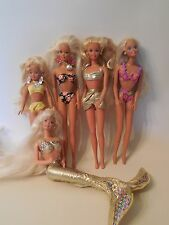 Beach Barbie Dolls Sun Jewel Tropical Splash Sensations Glitter Skipper Mermaid