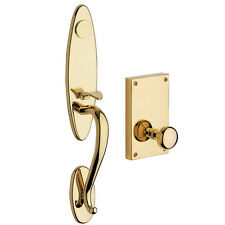 Baldwin Williamsburg 6549 003 LFD Polished Brass Dummy Handleset Trim Knob