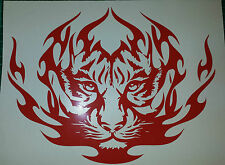 "Tribal Tiger Red - 8"" x 6"" Custom vinyl car sticker, decals, graphics"